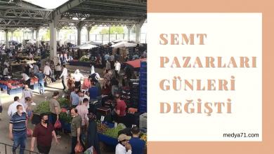 Photo of Semt Pazarı Günleri Değişti