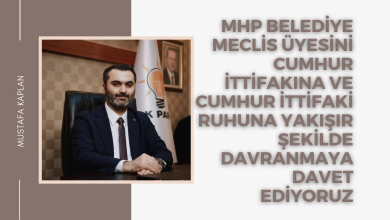 Photo of MHP Belediye Meclis Üyesini Cumhur İttifakina ve Cumhur İttifaki ruhuna yakisir sekilde davranmaya davet ediyoruz