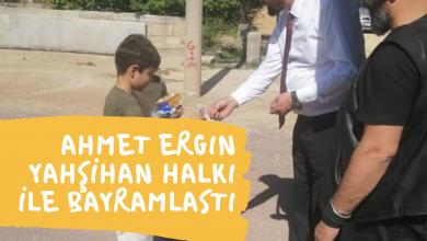 Photo of Ahmet Ergin Yahşihan Sokaklarını Gezerek Bayramlaştı