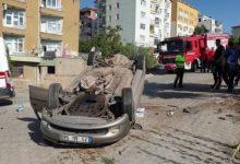 Photo of Virajı Alamayan Otomobil Takla attı