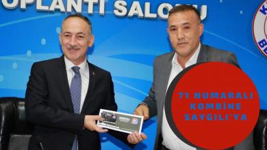 Photo of 71 Numaralı Kombine Başkan Saygılı'ya