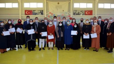 Photo of İŞKUR destekli 'Makine Nakışları Kursu' dönem sonu sergisi açıldı